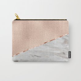 St Tropez rose gold marble Carry-All Pouch