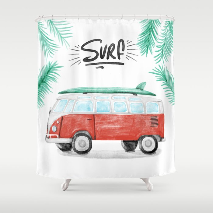 Surf Vibes Shower Curtain