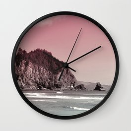 Short Sands Beach Oregon Coast Wall Clock
