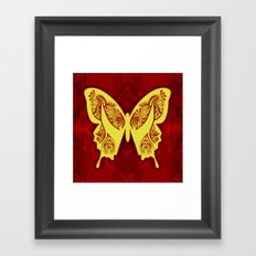 Henna Butterfly No. 5 Framed Art Print
