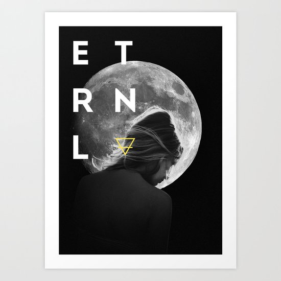ETRNL MOON GIRL Art Print