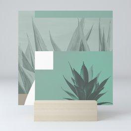 abstract agave plant Mini Art Print