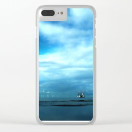 Off to Sea Clear iPhone Case