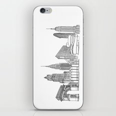 NYC Landmarks by the Downtown Doodler iPhone & iPod Skin