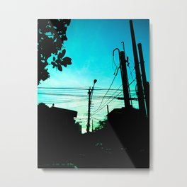 The Chaos of Cables. Metal Print