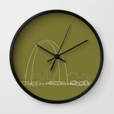 St. Louis by Friztin Wall Clock