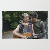 niall Area & Throw Rugs featuring Niall Horan x Zayn Malik by behindthenoise