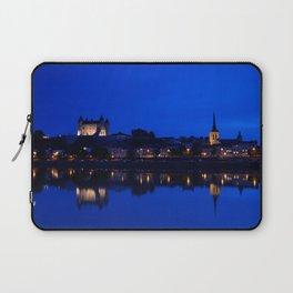 Panorama of Saumur at night , France. Laptop Sleeve