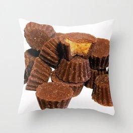 Mini Chocolate and Peanut Butter Treats Throw Pillow