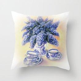 Purple Scent Throw Pillow