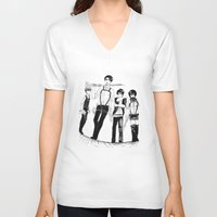 levi V-neck T-shirts featuring Squad Levi by PaigeAWArt