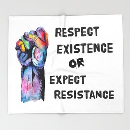 Respect or Expect Throw Blanket