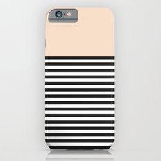 STRIPE COLORBLOCK {CREAM} iPhone 6s Slim Case