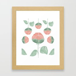 Puffy Flowers on Repeat Framed Art Print