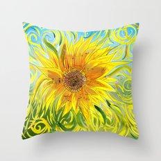 Sunflower Symphony Throw Pillow