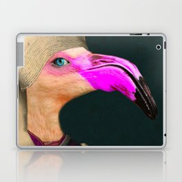 Portrait of a Flamingo Laptop & iPad Skin