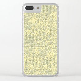 Green Dream Clear iPhone Case