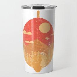 Vintage Tropical Fruit - Lemon Travel Mug