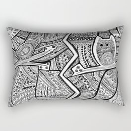 Passing By Day and Night Rectangular Pillow