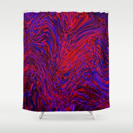 energy in motion Shower Curtain