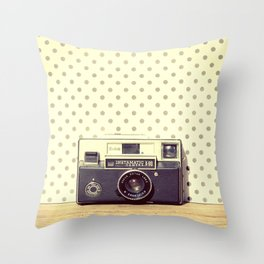 Vintage Camera Love: Kodak Instamatic! Throw Pillow