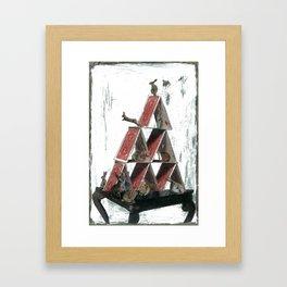 """""""House of Cards"""" Framed Art Print"""