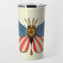 patriot moth (ORIGINAL SOLD). Travel Mug