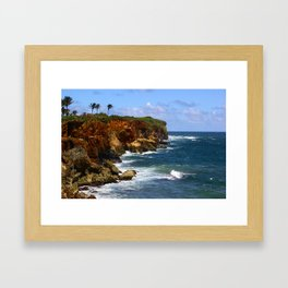 Poipu Cliffs, Kauai, HI Framed Art Print