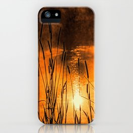 Sunrise at the lake /Sonnenaufgang am See iPhone Case