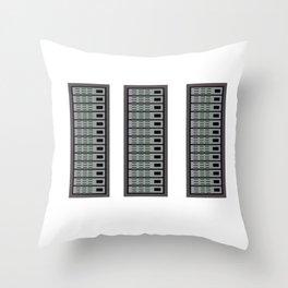 IT Network Programmer Computer Science Server Rack Throw Pillow