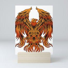 Phoenix Mythical  Long  Live Secular Vibrant Gift  Mini Art Print