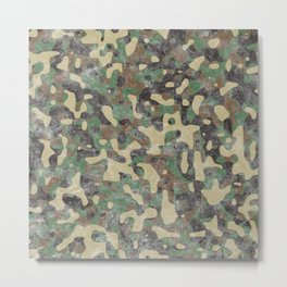 Distressed Army Camo Metal Print