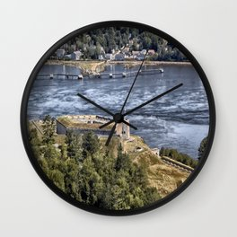 Fort Knox and the Penobscot River Valley Wall Clock