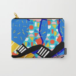 Demo - memphis retro 80s throwback hightop socks styles bright happy art slides Carry-All Pouch