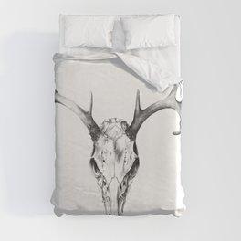 Deer Skull in Pencil Duvet Cover
