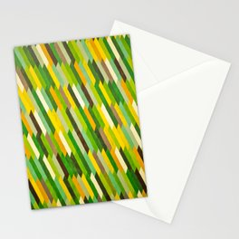 Calming Green Tile Painting Stationery Cards