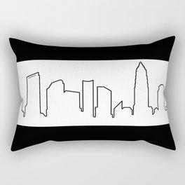 Charlotte, NC Skyline Rectangular Pillow