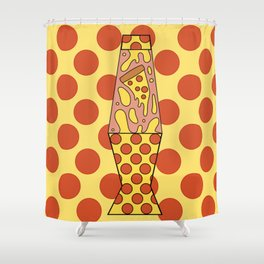 Pizza Lamp Shower Curtain