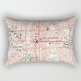 Tallahassee Florida Map (1999) Rectangular Pillow