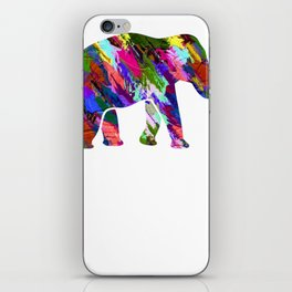 Elephant Art Never forget iPhone Skin