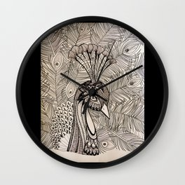 """Hope"" is the thing with Feathers Wall Clock"