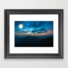 Super Moon Framed Art Print