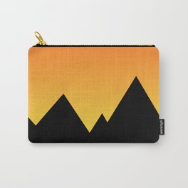 Mountains at Sunset (Red & Yellow) Carry-All Pouch