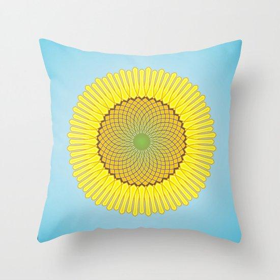 Spring Yellow Throw Pillow