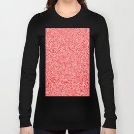 Spacey Melange - White and Red Long Sleeve T-shirt