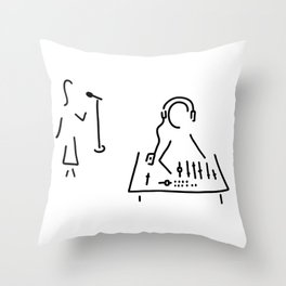 sound engineer studio admission mixing writing desk Throw Pillow