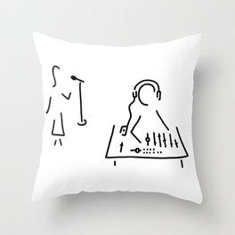 sound engineer studio admission mixing writing desk Throw Pillow