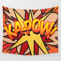 comic book Wall Tapestries featuring Comic Book KA-POW! by The Image Zone