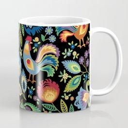 Polish Folk Roosters Coffee Mug