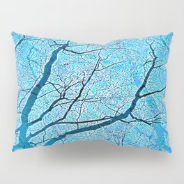 Interconnected Paths (ice blue) Pillow Sham